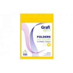 Folders HOT COLOR A4 AMARILLO x 25und