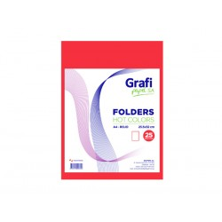 Folders HOT COLOR A4 ROJOx 25und