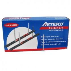 Fastener de plastico gusanillo negro cja x25 unid ARTESCO