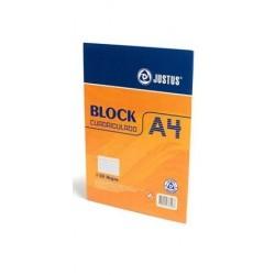 Block A4 cuadriculado x 80H JUSTUS