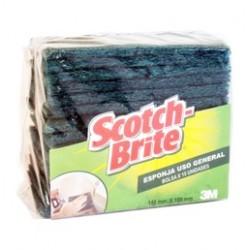 Esponjas SCOTCH BRITE 3M verde X 1uni X 15
