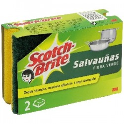 ESPONJAS SCOTCH BRITE DOBLE USO SALVA UÑAS
