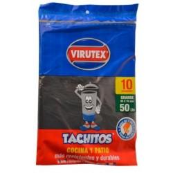 Bolsa negra 50lt. x 10 unidades Tachito