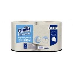Papel Higienico Familia - Hoja sencilla Blanca 1 paquete x 4 rollos 400 mts