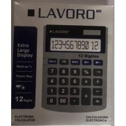 Calculadora LAVORO negro 12 digitos