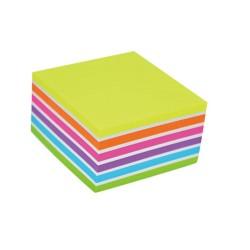 Notas autoad. 3x3 cubo neon pad x 400 stickn