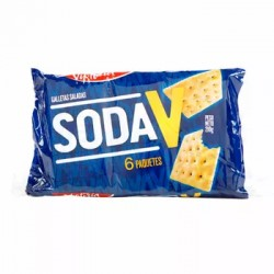 "GALLETA SODA VICTORIA "" V "" X 210 GR SIX PACK"