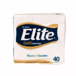 Servilletas de Papel Dobladas ELITE Gold Paquete 40 un