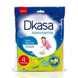 Paño esponja Dkasa pack 4unid
