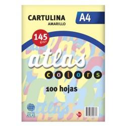 SEPARADORES DE CARTULINA A4 AMARILLO ATLAS