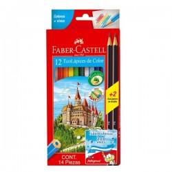 Colores Faber Castell Ecolapiz de Color x12