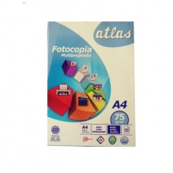 Papel fotocopia multiproposito A-4 75gr C/PAQ 500 hojas