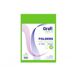 Folders HOT COLOR A4 VERDE x 25und