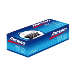 Clip Binder 32 mm 1 (1/4 ) Caja de 12 Unidades ARTESCO