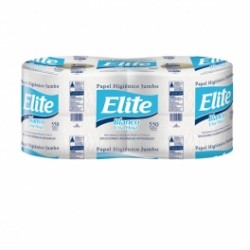 Papel higiénico jumbo Elite 550mt paquete x 4 unidades